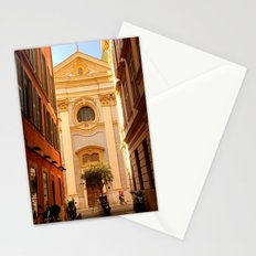 Church Street Scene in Vieux Nice Stationery Cards