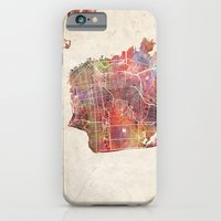 san francisco iPhone & iPod Cases featuring San Francisco by MapMapMaps.Watercolors