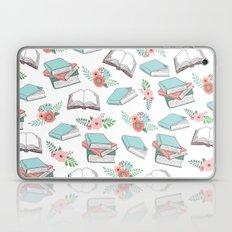 Books & Flowers Print Laptop & iPad Skin