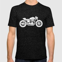 Triumph Bonneville - Cafe Racer series #3 Mens Fitted Tee Tri-Black SMALL