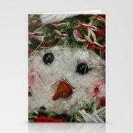 Fuzzy Snowman Stationery Cards