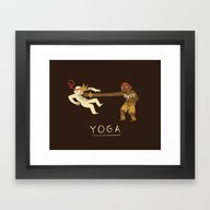 Framed Art Print featuring Yoga. by Louis Roskosch