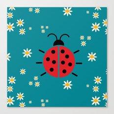 ladybug flowers Canvas Print