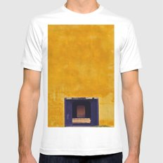 Emperor's yellow house White Mens Fitted Tee SMALL