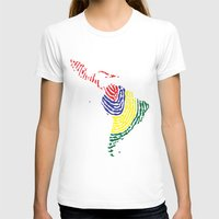 Latin America Womens Fitted Tee White SMALL