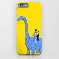 iPhone Cases featuring Dinosaur B by Joe Carr