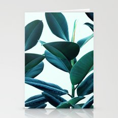 Tropical Rubber Ficus Elastica Plant leaves  Stationery Cards