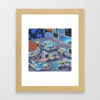 Command Center Framed Art Print