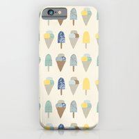 iPhone & iPod Case featuring ice cream pattern  by flying bathtub