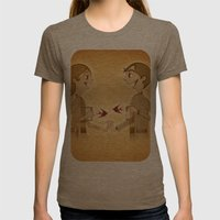 Love Womens Fitted Tee Tri-Coffee SMALL