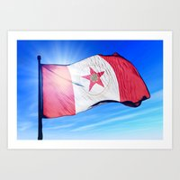 Birmingham, Alabama (USA), flag waving on the wind Art Print