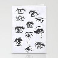 Anime Eyes Stationery Cards
