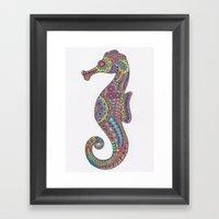 Kaleidoscope Seahorse Framed Art Print