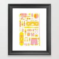 Summer Jawns Framed Art Print