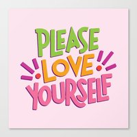 Please Love Yourself Canvas Print