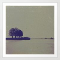 The trees at the end of the pier Art Print