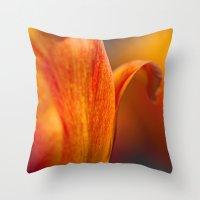 Tulip Bends Throw Pillow