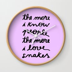 ALL MY FRIENDS ARE SNAKES Wall Clock