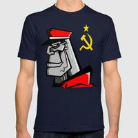 For Russia Mens Fitted Tee Navy SMALL
