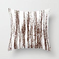 Birch Winter Sepia Throw Pillow
