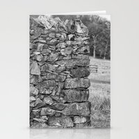Dry Stone Wall In Mono Stationery Cards