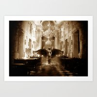 Falling Angel/ Persecution of the Angelic  Art Print