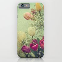 iPhone & iPod Case featuring Vintage French Tulips -- Spring Botanical Still Life by V. Sanderson / Chickens in the Trees
