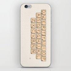 Qwerty Scrabble  iPhone & iPod Skin