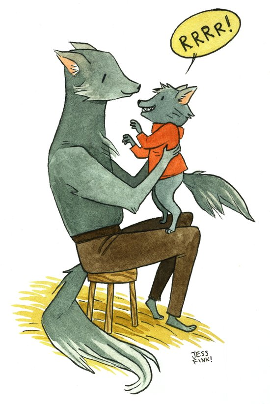 Wolfman and Wolfson  Art Print