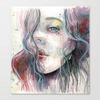 Sleepy violet, watercolor Canvas Print