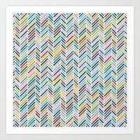 Herringbone Colour Art Print