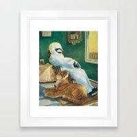 Housemates Framed Art Print