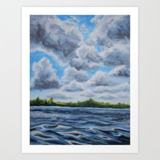 View from the Dock  Art Print