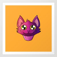 Super Kawaii Neko Muffin Art Print