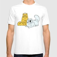 Navy Cats Mens Fitted Tee White SMALL