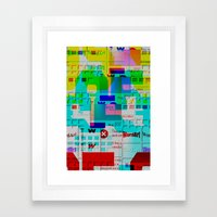 Glitch 002 Framed Art Print