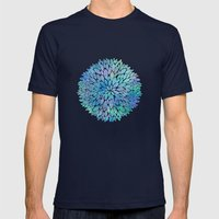 Petal Burst #8 Mens Fitted Tee Navy SMALL