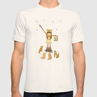 Little Fox Girl Mens Fitted Tee Natural SMALL