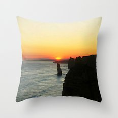 Sunset over the Great Southern Ocean Throw Pillow