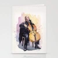 Cello Music Watercolor C… Stationery Cards