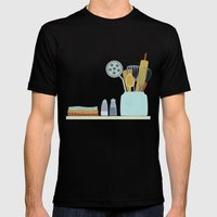 The Kitchen Shelf Mens Fitted Tee Black SMALL