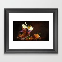 Autumn Mouse Framed Art Print