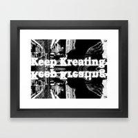 Keep Kreating Framed Art Print