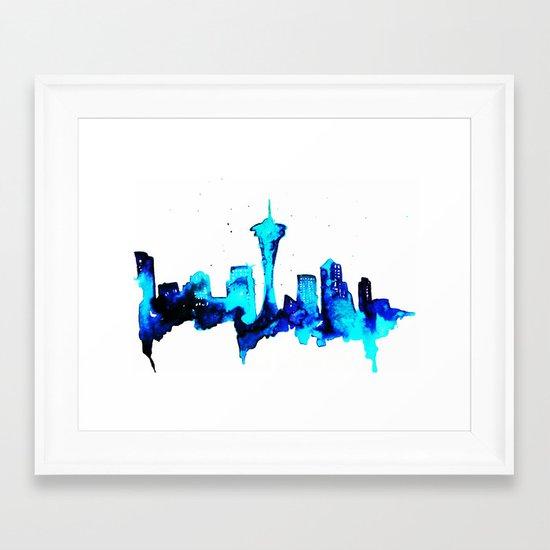 Seattle  Framed Art Print