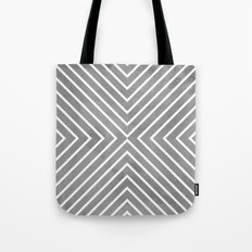 Stripes in Grey Tote Bag