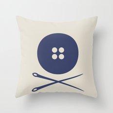 BUTTON SKULL Throw Pillow