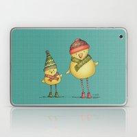 Two Chicks - teal Laptop & iPad Skin