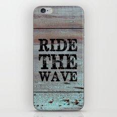 Ride The Wave iPhone & iPod Skin