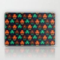 Multy retro flowers black Laptop & iPad Skin