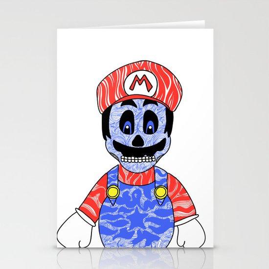 Blue Mario Stationery Card
